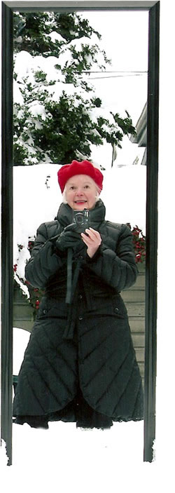 Nomi Kaplan, Self-Portrait in Deep Snow